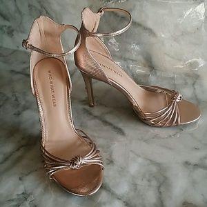 Gold rose heels 7